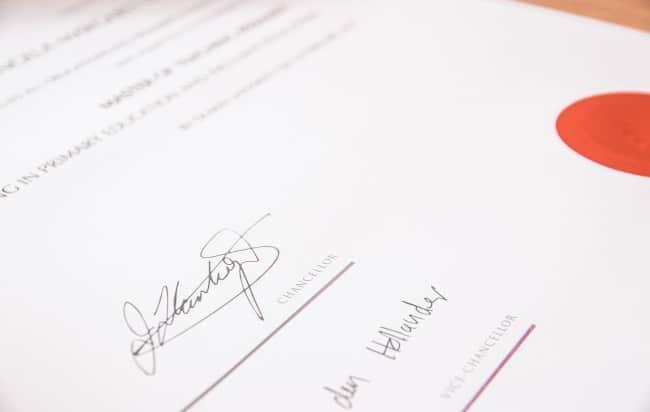 Handtekening vervalsen - voorbeeld valsheid in geschrifte